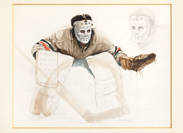 "Ken Danby, ""Study for At the Crease,"" 1972"