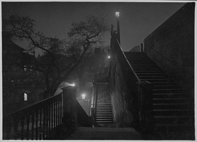 """Josef Sudek. """"Prague at Night,"""" c. 1950–59"""