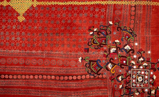 Pakistan: groom's wedding shawl