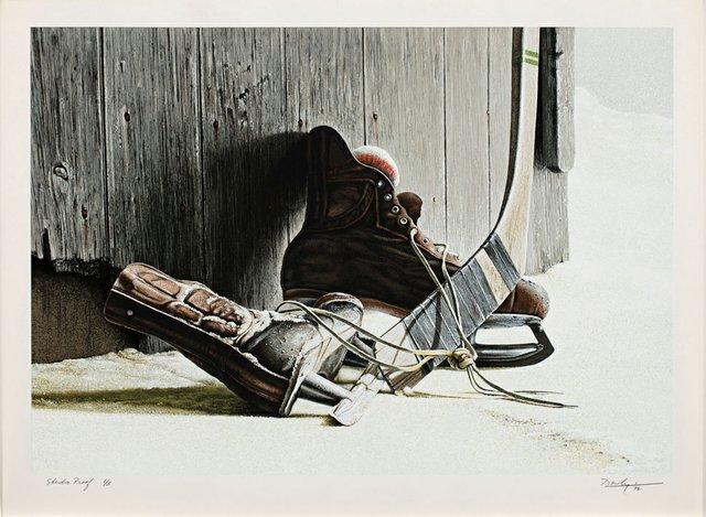 """Ken Danby, """"The Skates,"""" 1972"""