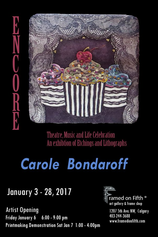 "Carole Bondaroff, ""Encore - Theatre, Music and Life Celebration,"" nd"