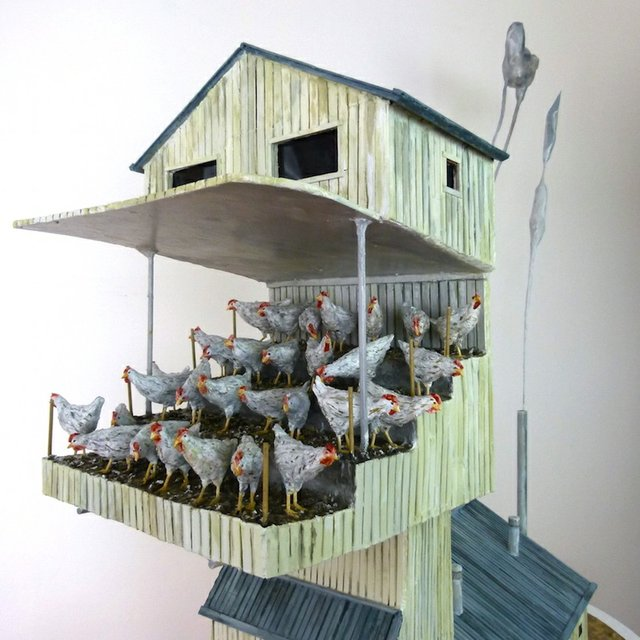 """Jude Griebel, """"Bird Factory,"""" 2016"""