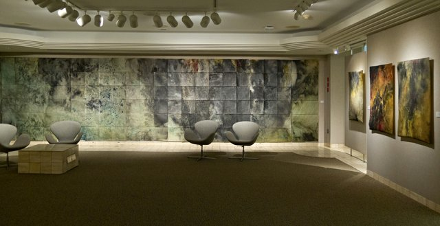 """Installation view of """"Embodied"""" exhibition by Kelsey Stephenson at the McMullen Gallery, Edmonton, 2016"""