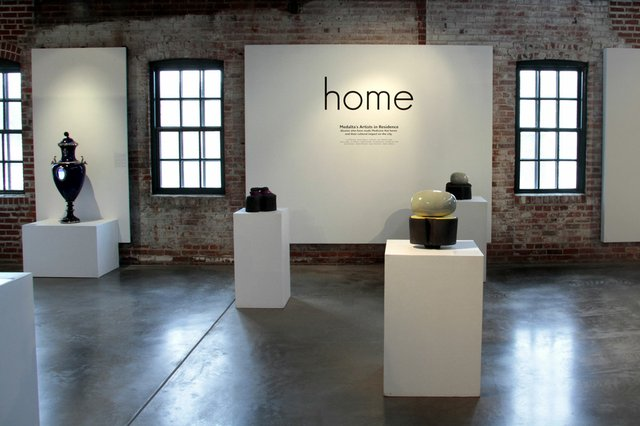 "Installation view of ""Home"" at Medalta in Medicine Hat, Alta."