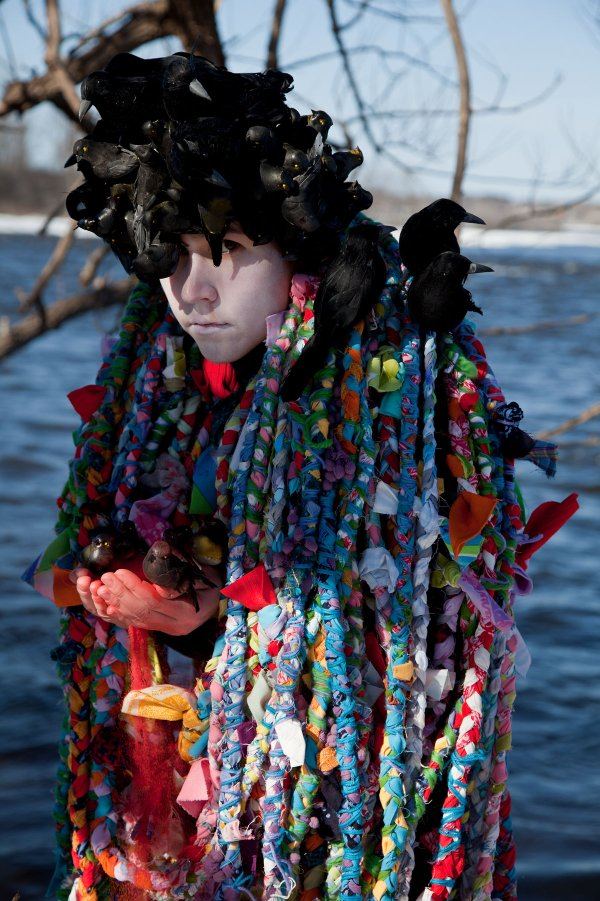 "Meryl McMaster, ""Secret Darkness of Birds,"" 2015"