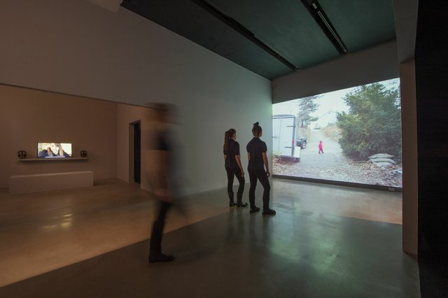 """Installation view of """"Children"""" at New Media Gallery, New Westminster, B.C."""