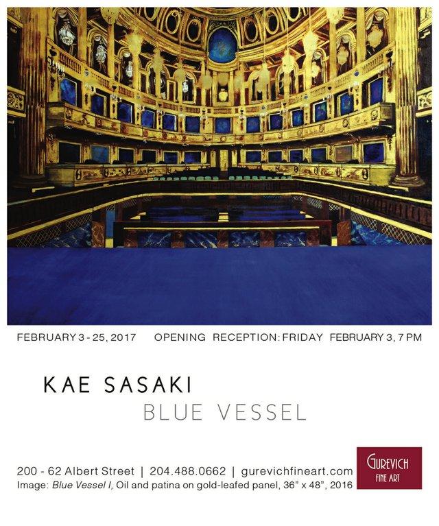 """Kae Sasaki, """"Blue Vessel,"""" nd"""