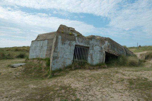 "Leslie Hossack, ""Bunker, Juno Beach, Courseulles-sur-Mer,"" 2015"