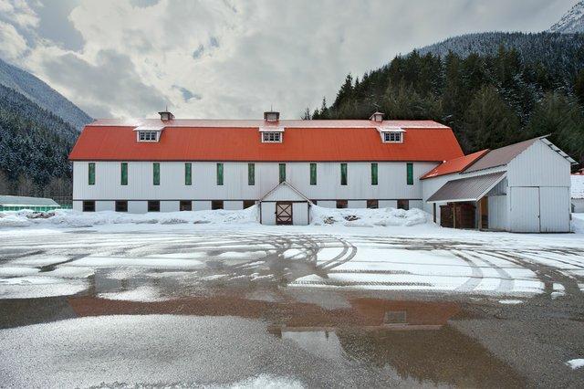 "Leslie Hossack, ""Large Barn, Site of Tashme Internment Camp, Sunshine Valley, British Columbia,"" 2013"