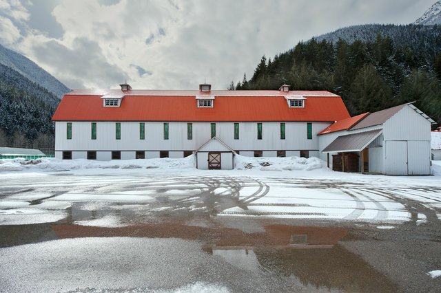 "Leslie Hossack, ""Large Barn, Site of Tashme Internment Camp, Sunshine Valley, British Columbia,"" 2013"