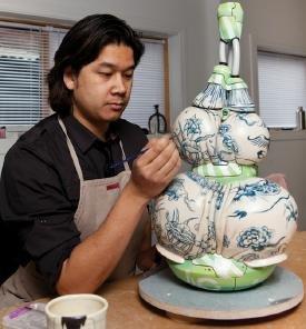 Brendan Tang in his studio