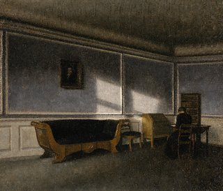 Vilhelm Hammershøi (1864–1916), Sunshine in the Drawing Room (Solskin i dagligstuen), 1910