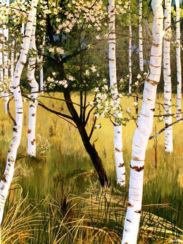 """Barbara Hirst, """"May Blossoms"""" nd"""