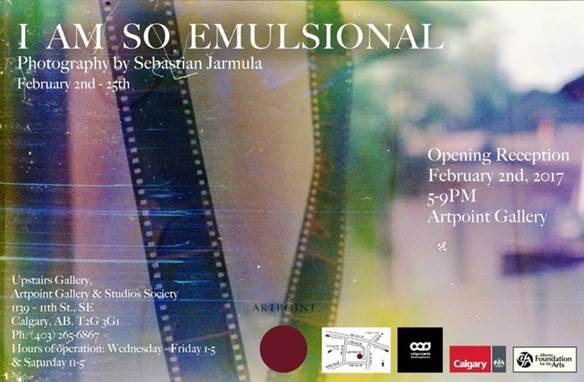 "Sebastian Jarmula, ""I AM SO EMULSIONAL,"""