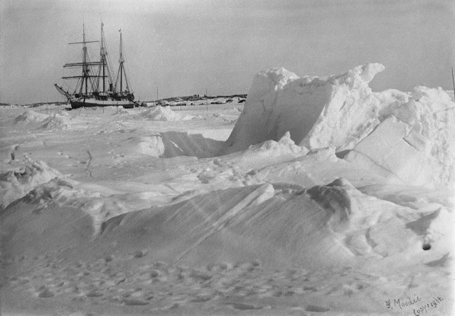 "Geraldine Moody, ""DGS Arctic frozen in the ice, Fullerton Harbour, Nunavut,"" April 1905"
