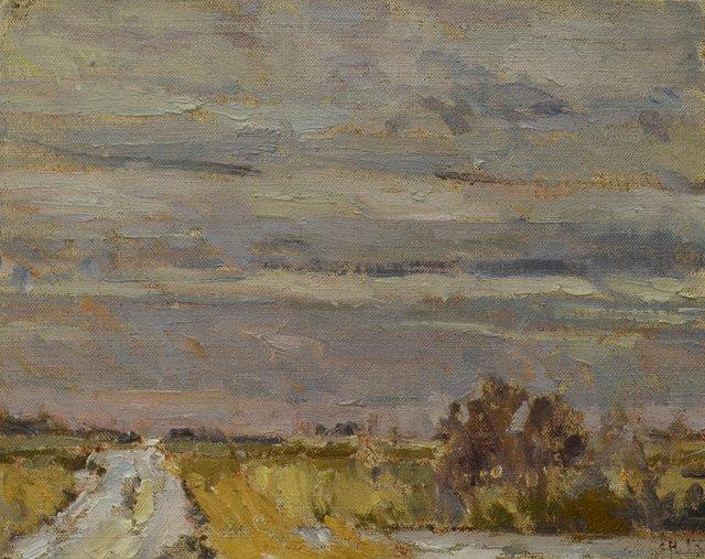 "Clint Hunker, ""Marsh Road; West Towards the Slough,"" 2016"