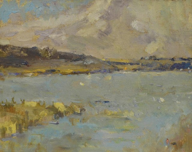 """Clint Hunker, """"Alkaline Lake from the Flooded Old 27 Highway,"""" 2016"""
