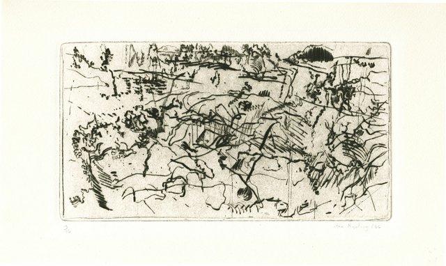 "Ann Kipling, ""Landscape–Sea and Rocks,"" 1966"