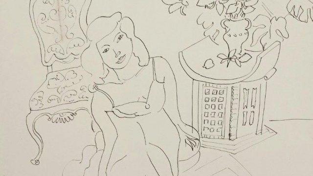 "Henri Matisse, ""Girl in an Interior (detail),"" 1941"