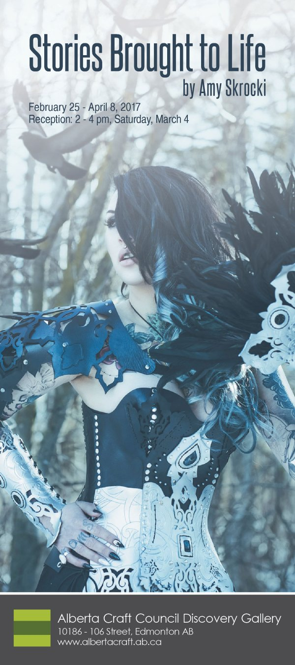 """Amy Skrocki, """"Handcrafted leather outfit and accessories"""""""