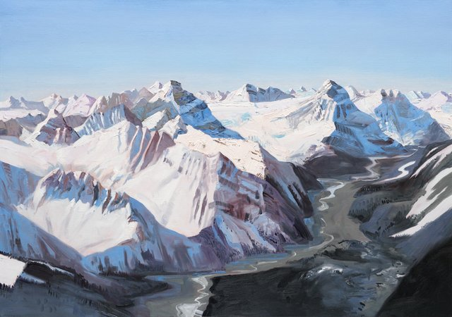 "John Hartman, ""The Whirlpool River and the Hooker Icefield,"" 2016"