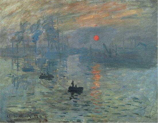"""Claude Monet, """"Impression Sunrise,"""" 1872"""