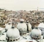 """St. Mark's Domes With Venice Background"""