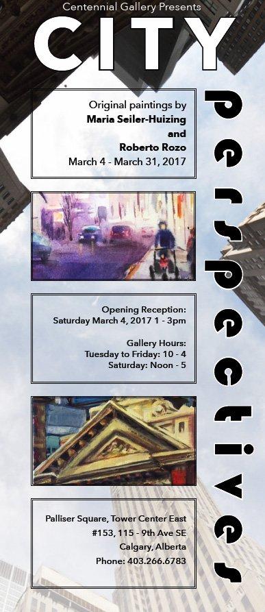 "Maria Seiler-Huizing & Roberto Rozo, ""City Perspectives, invitation"""