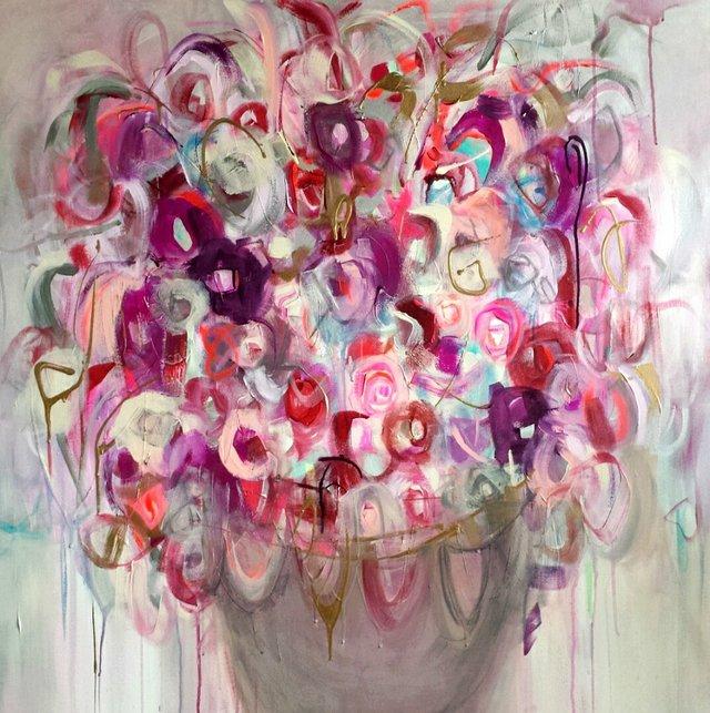 """Clo Campbell, """"Fleurs en folie N.56,"""" n.d."""