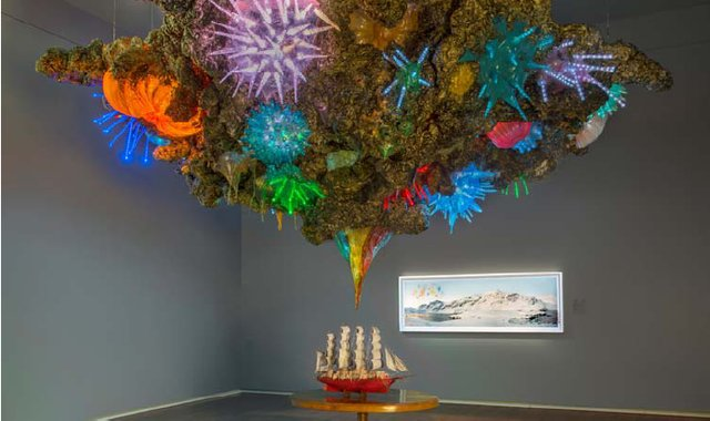 "Sarah Anne Johnson, ""Untitled (Schooner and Fireworks),"" 2012"