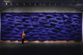 """Swimming Upstream in the Comfort of: Homage to Yves Klein"""