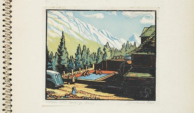 """Margaret Shelton, """"Upper Hot Springs, Banff,"""" 1952"""