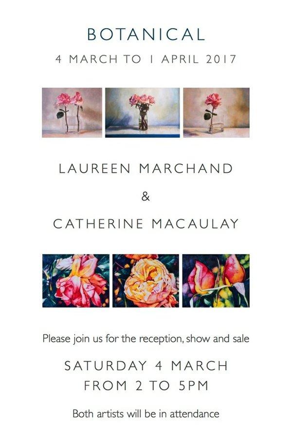 "Laureen Marchand & Catherine Macaulay, ""Botanical"" invitation"