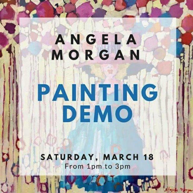 "Angela Morgan, ""Painting Demo"""
