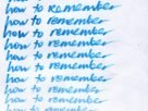 how to remember