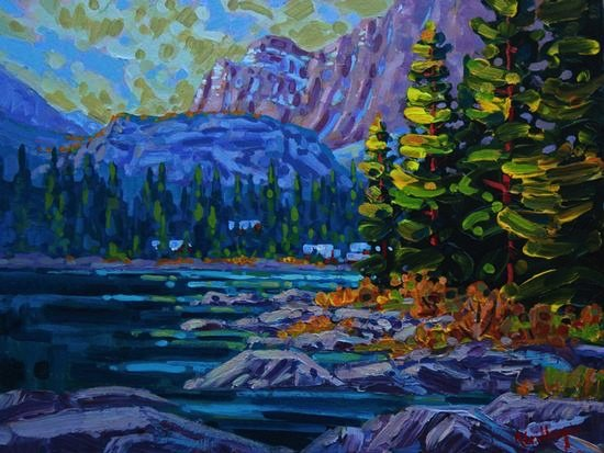 "Ken Gillespie, ""Lake O'Hara Morning,"" nd"