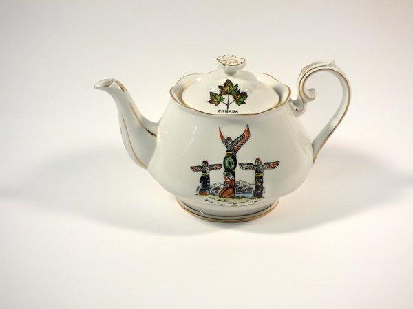"""Ellen Neel, """"Totemware ceramics - Totems, Alaska – Teapot,"""" c.1954-1970"""
