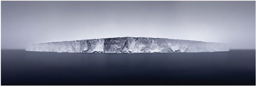 """Giant Tabular Iceberg in Fog"""