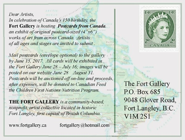 Postcards from Canada Call for Entry Invitation