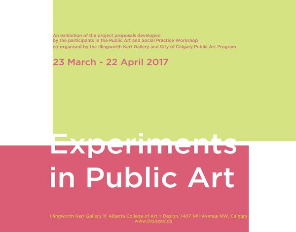 Experiments in Public Art Invitation