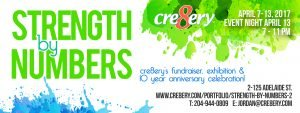 cr8ery Strength in Numbers invitation
