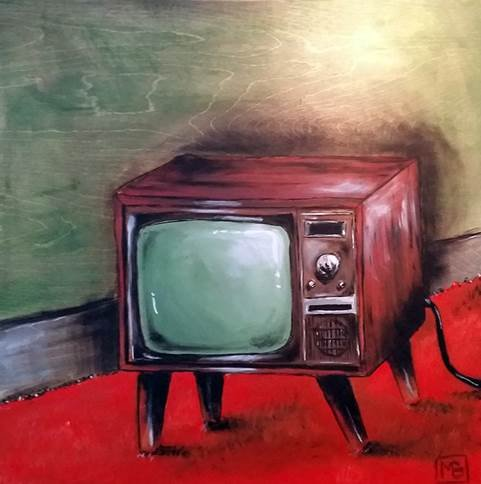 "Mike Baril, ""Old TV,"" nd"