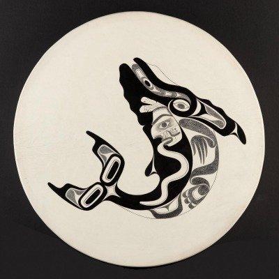 Drum by Joe David, Nuu-chah-nulth. Photo: Kenji Nagai.