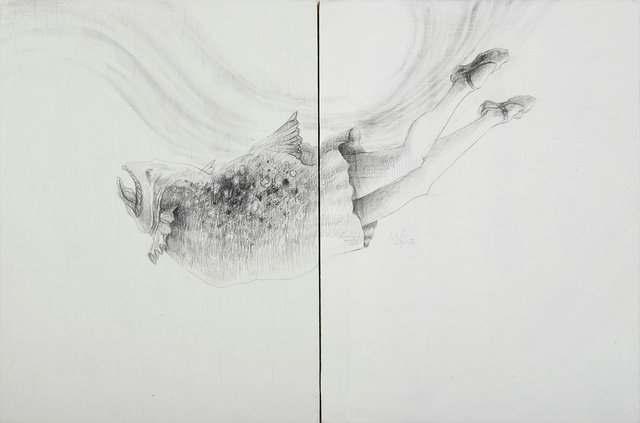 "Pilar Mehlis, ""Dancer Dyptich,"" 2017"