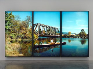 """Rodney Graham, """"Paddler, Mouth of the Seymour,"""" 2012-13"""