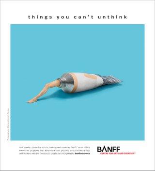 Banff Centre ad creative