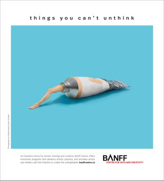 Banff Centre ad creative
