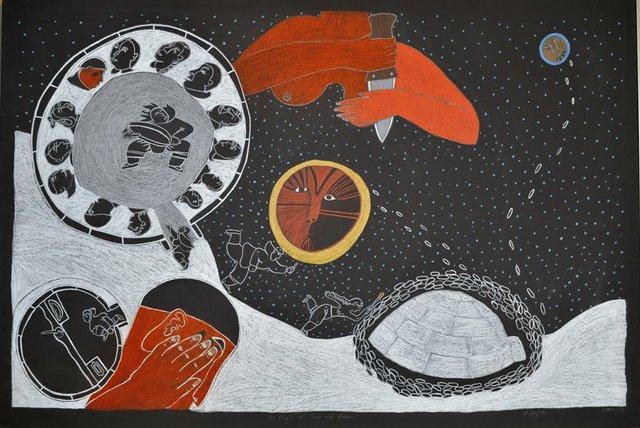 "Ningiukulu Teevee, ""The Origin of the Sun and the Moon,"" n.d."