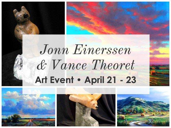 Jonn Einerssen & Vance Theoret, Art Event Invitation