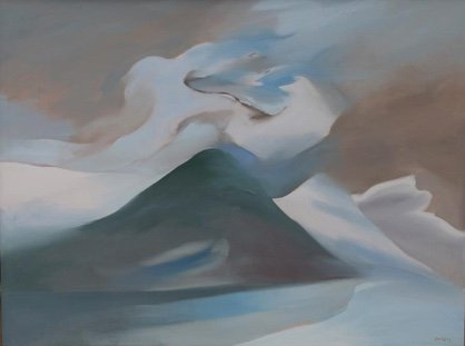 "Toni Onley, ""White Cloud, Golden Ears Peak,"" 1983"